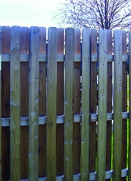 Slat Fence Detail