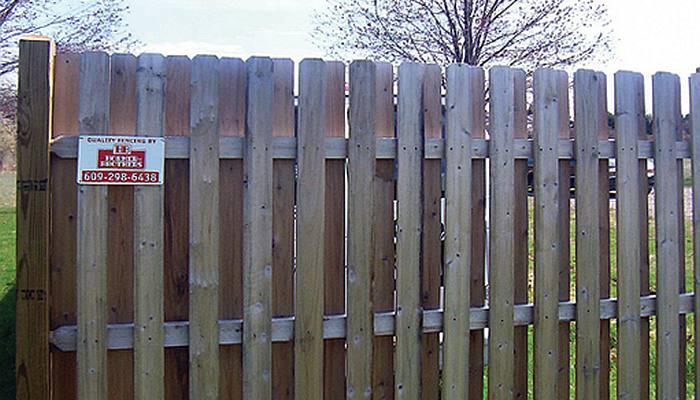 wooden slat fence