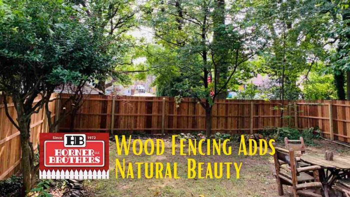 Wood Fencing Adds Natural Beauty